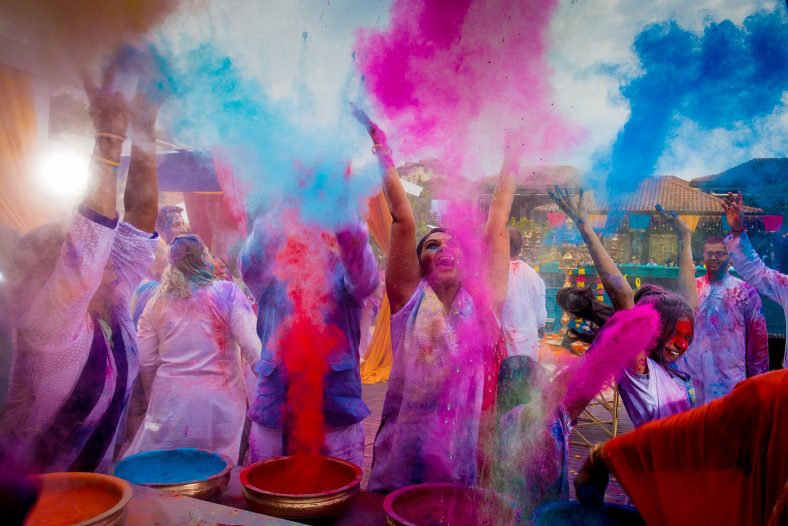 Documentary photography at Hindu holi fight.