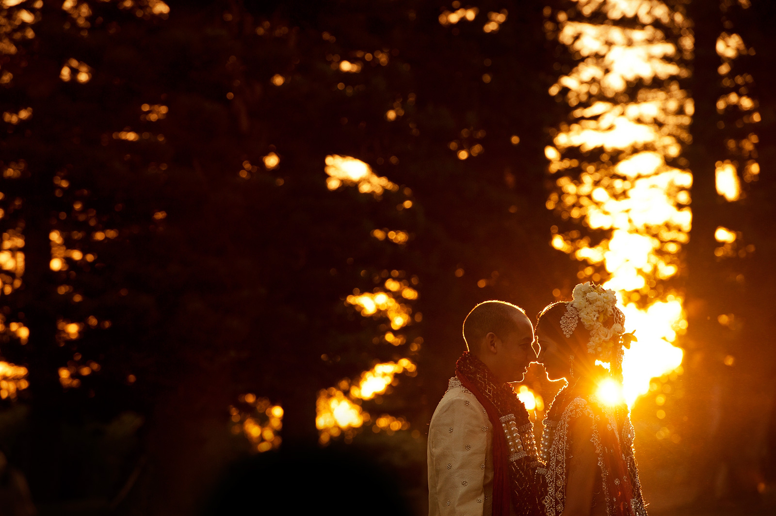 Indian wedding sunset
