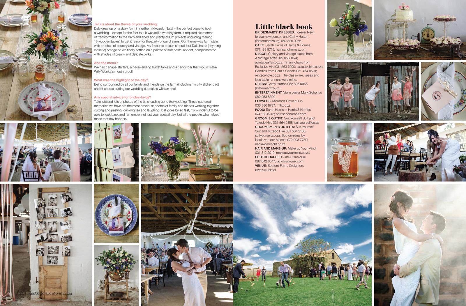 wedding magazine feature
