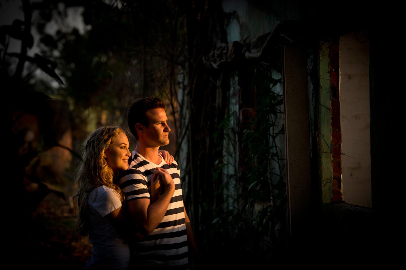 Couple in gorgeous Durban light