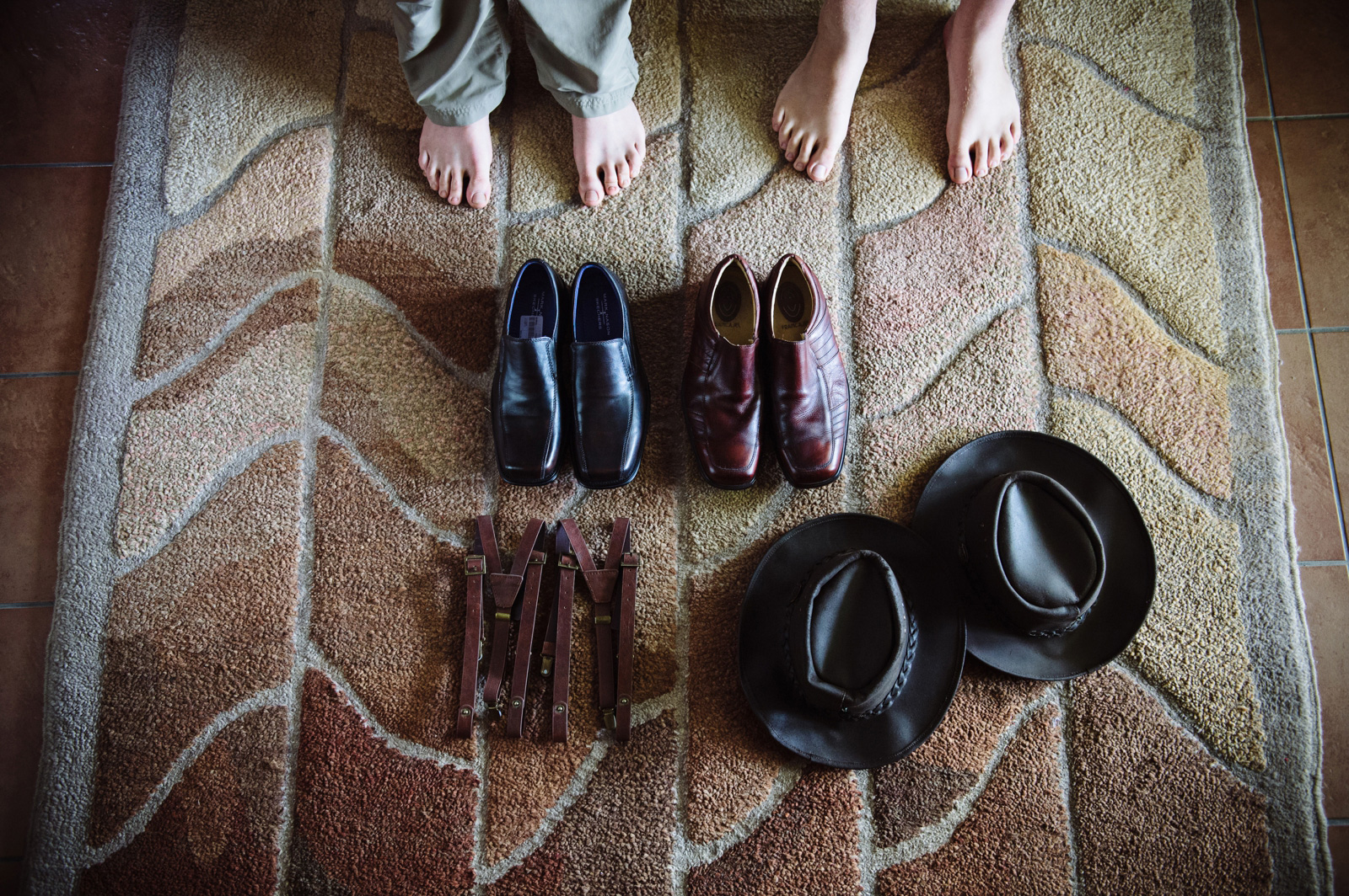 mens shoes and hat