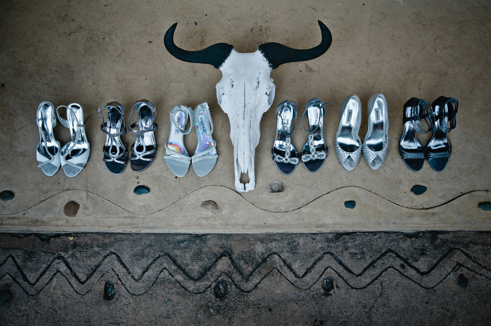 wedding shoes with animal head
