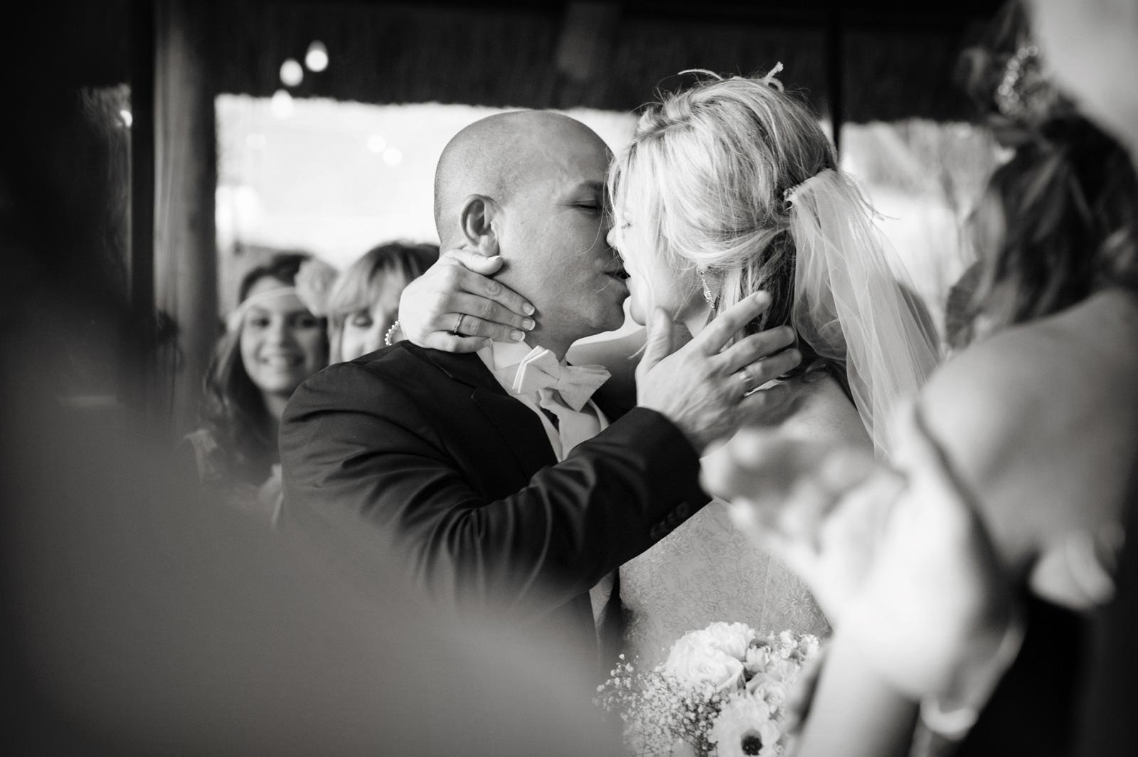 First kiss at a Greek wedding