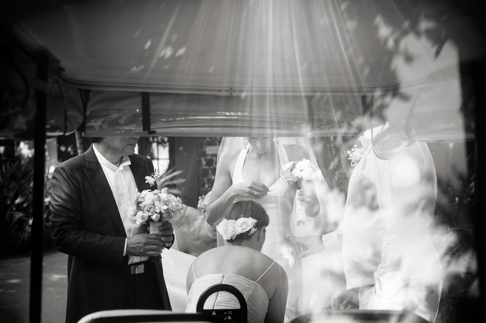light on bride