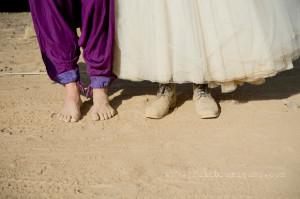 AfrikaBurn Tankwa purple wedding