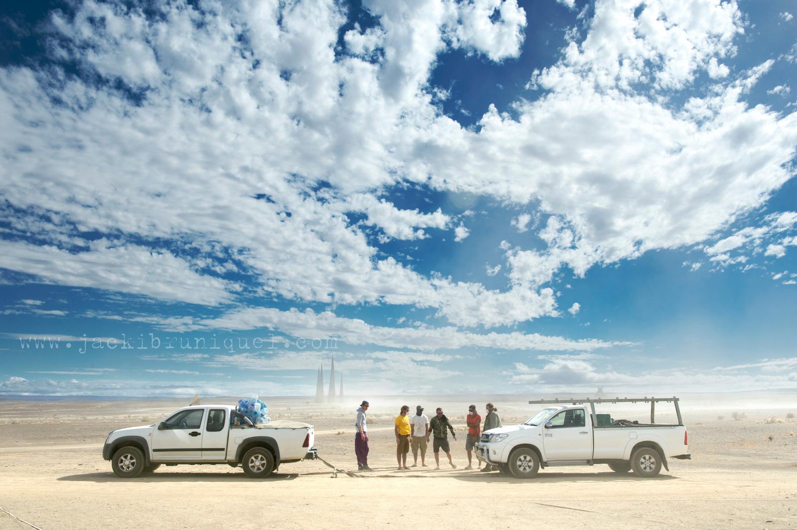 Car troubles at Afrika Burn