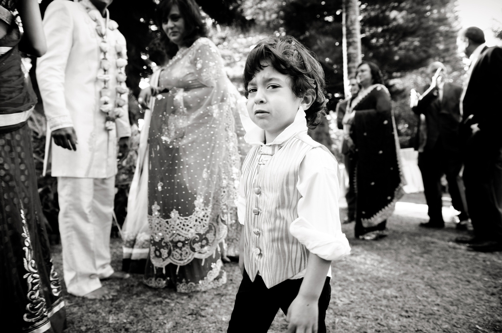 Cute kid at wedding