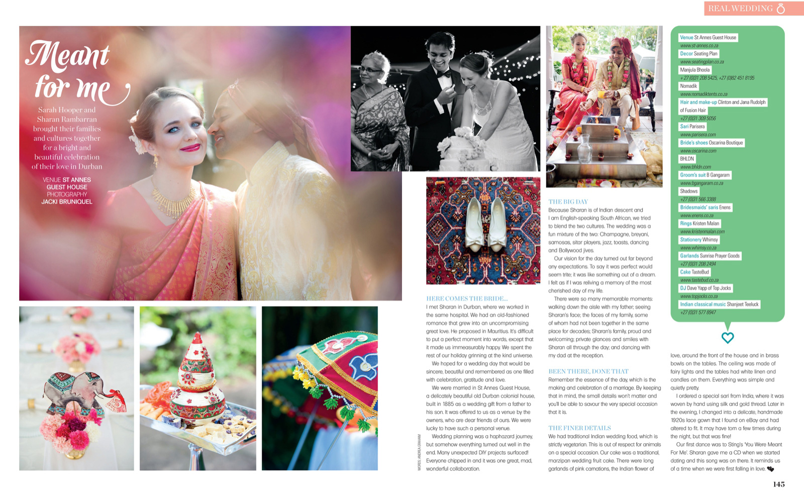 wedding in magazine
