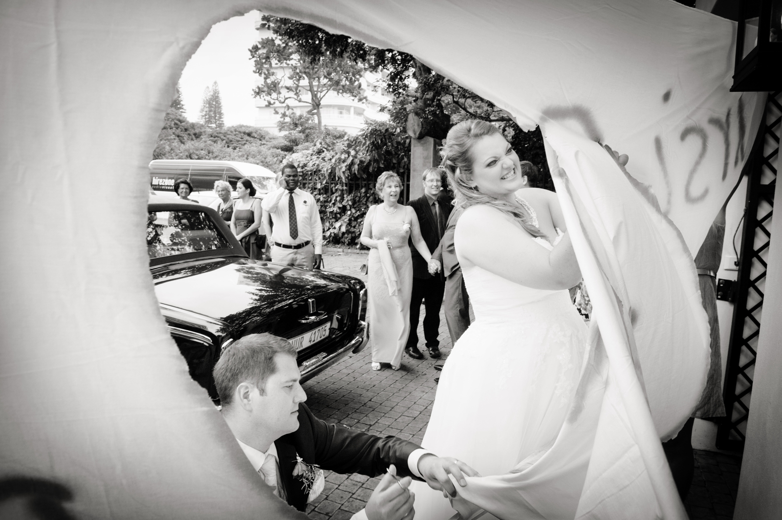 Bride and Groom Cutting a heart