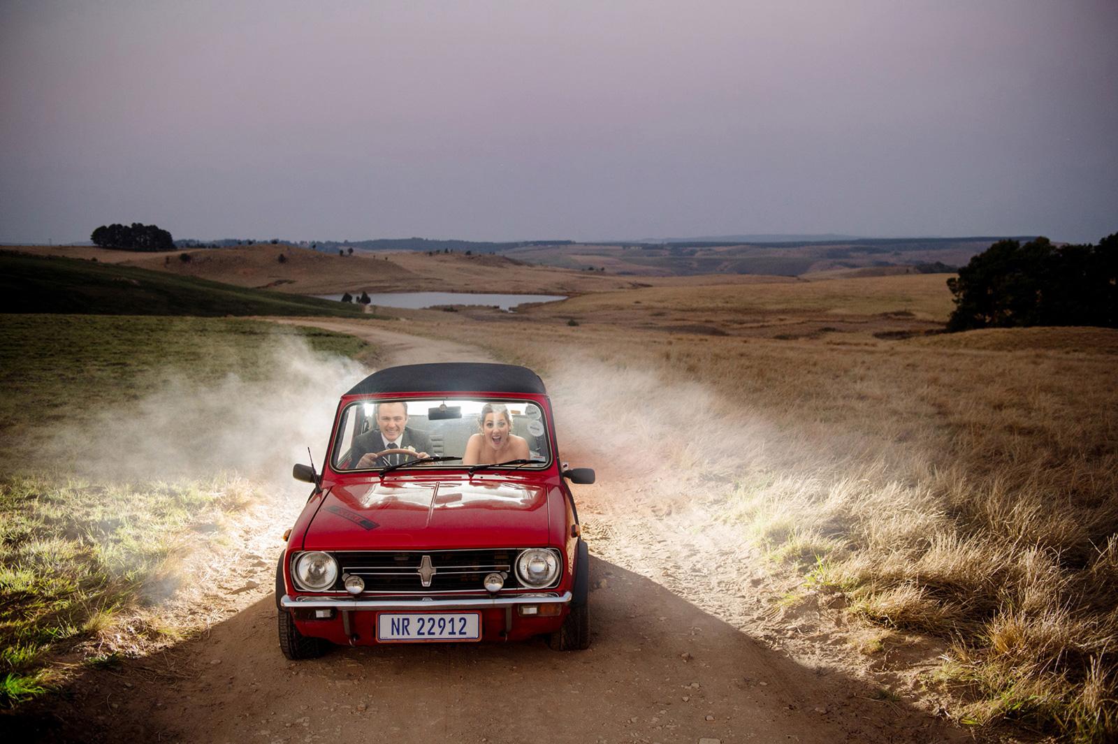 Bride and Groom drive mini