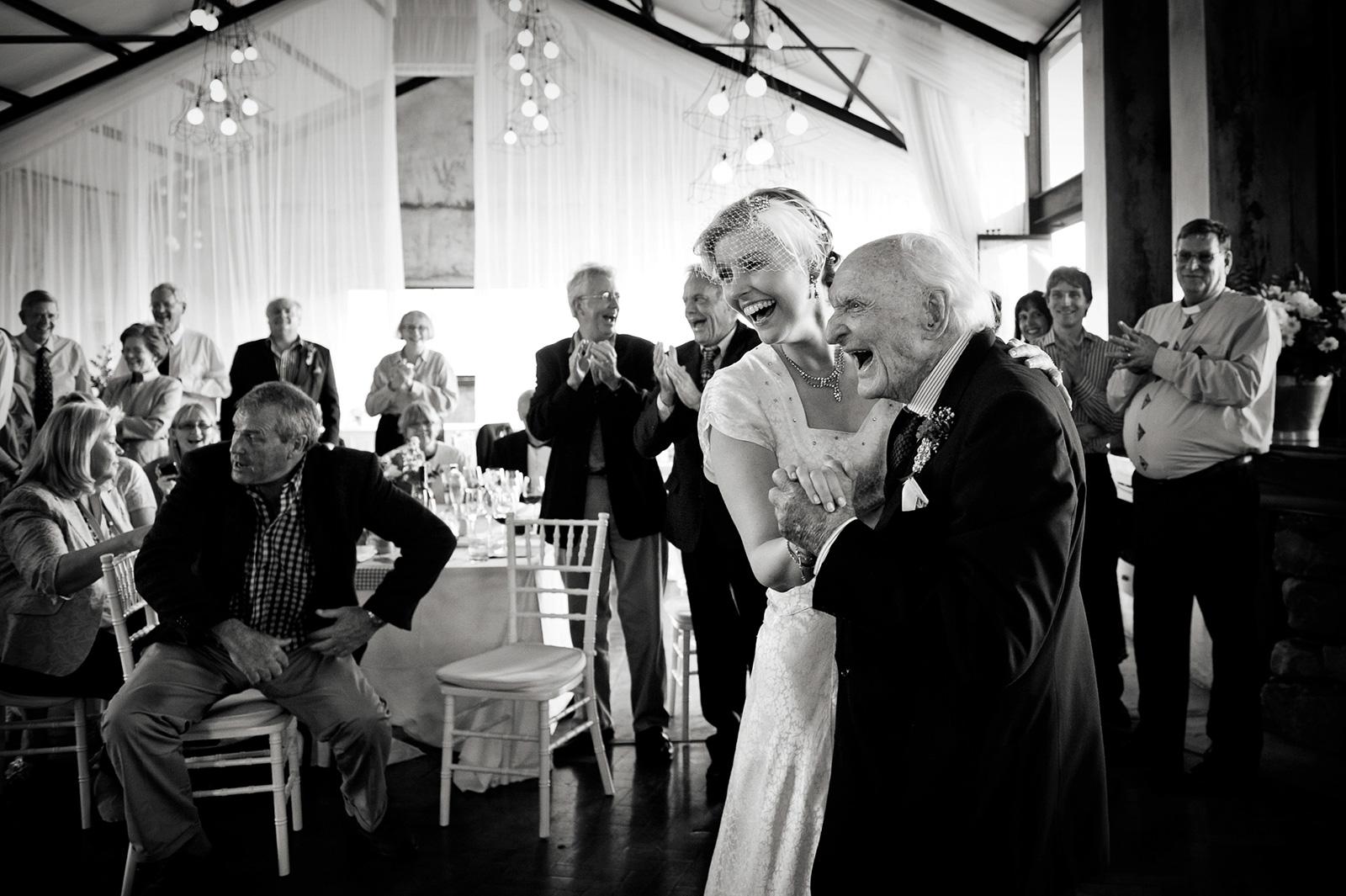 Bride dance with grandpa