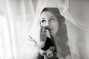 Bride with tear