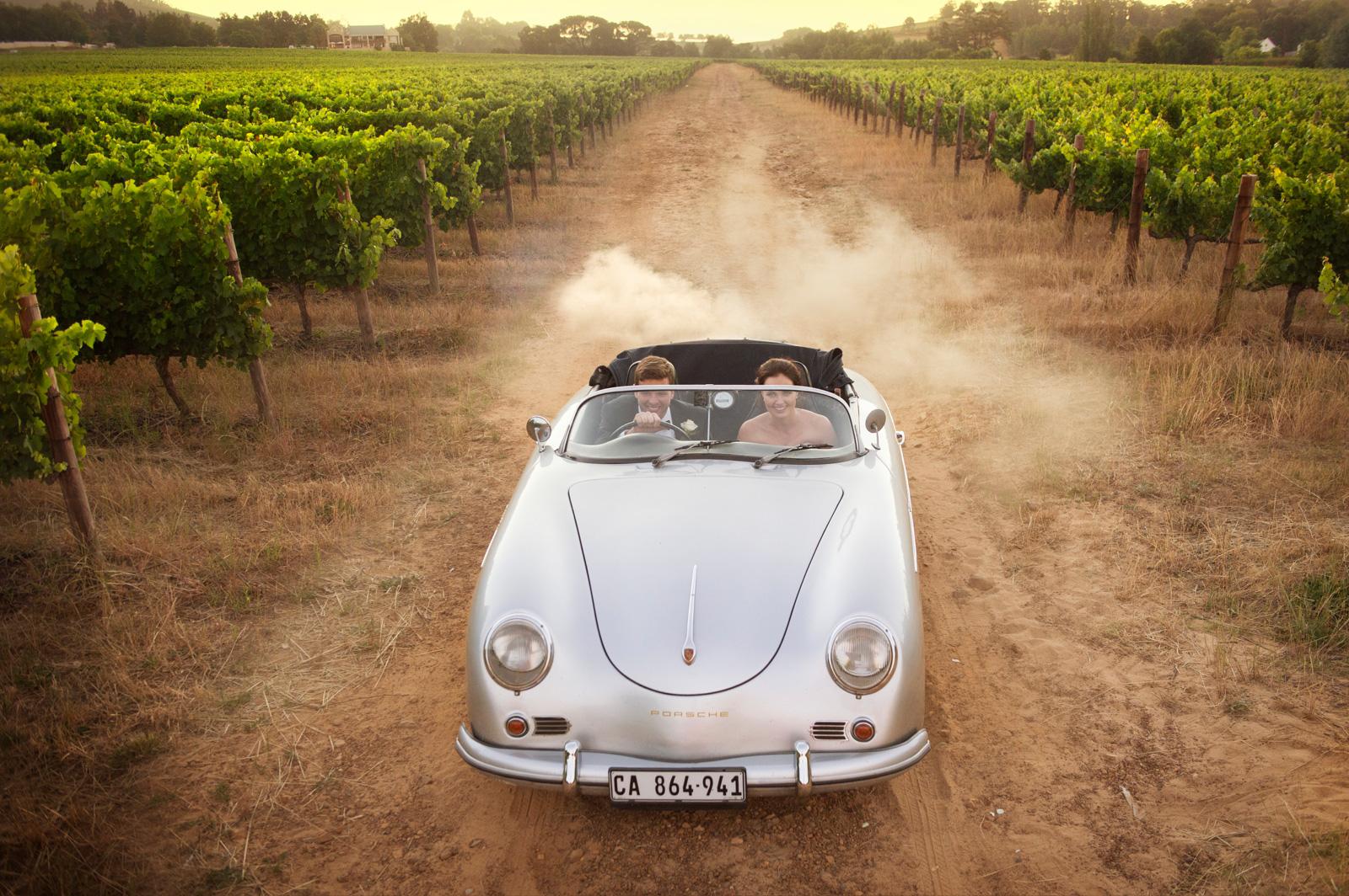 Vintage Porsche Wedding Vineyards