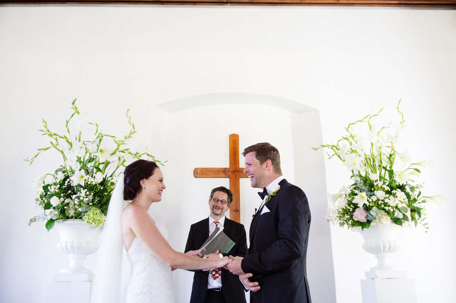 Bride and Groom saying vows