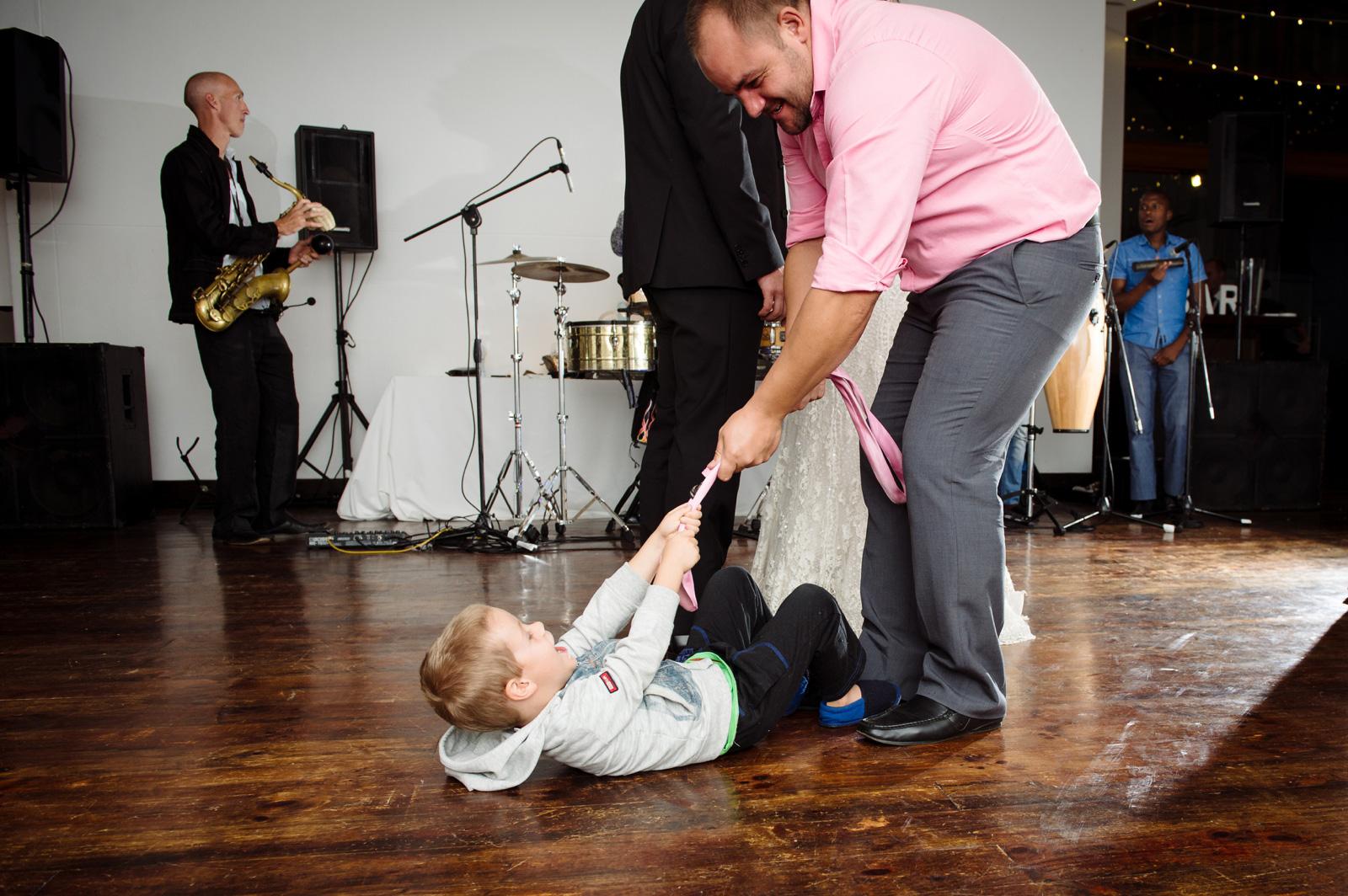Child on dance floor