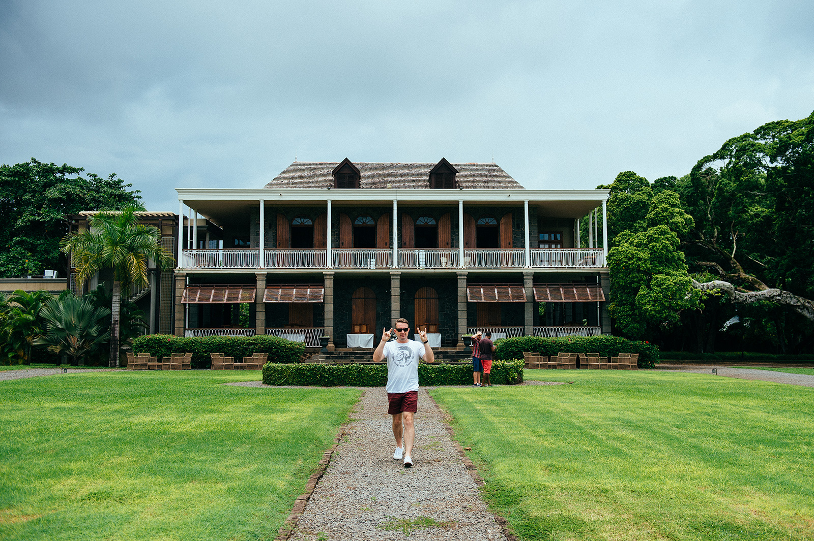 man in front of manor
