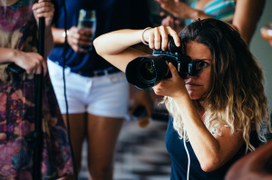 Photographer on location with nikon