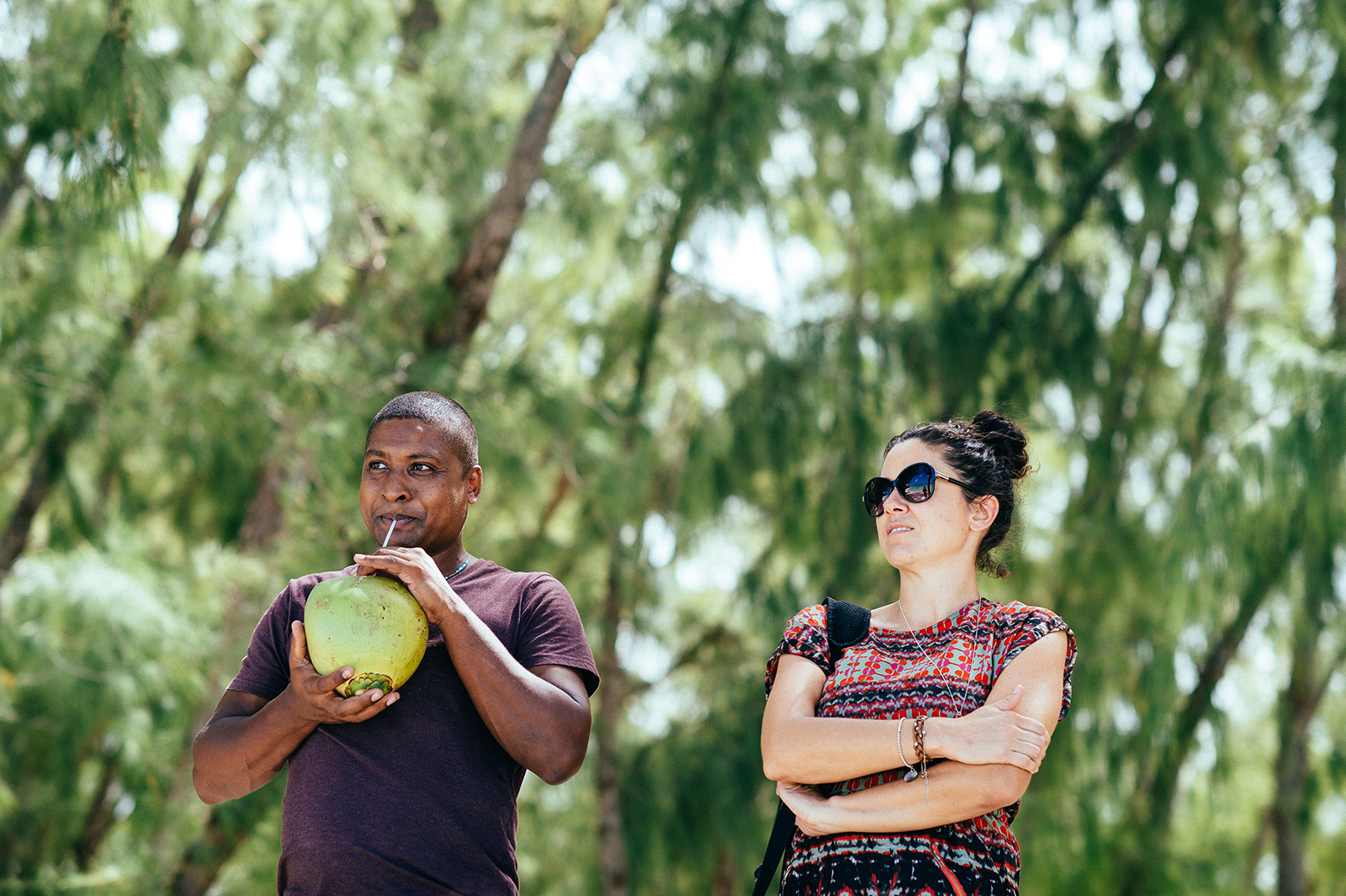 mauritian beach coconut