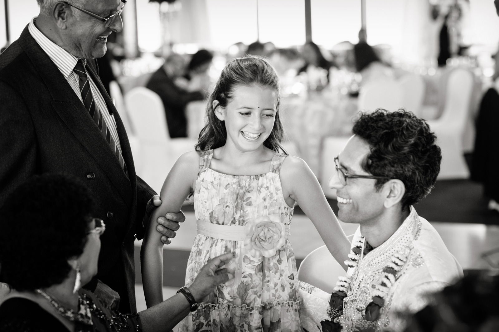 Groom and child