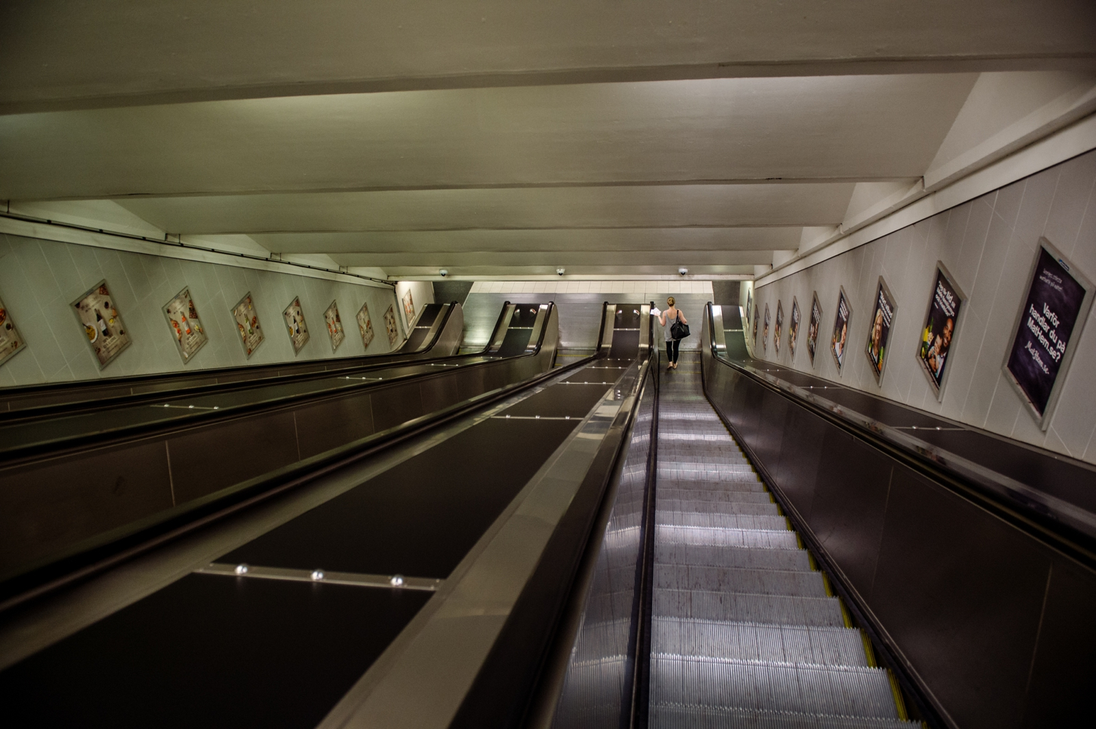 Long escalators