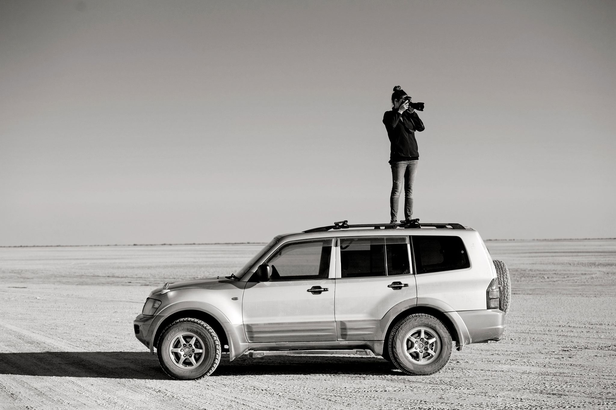 Photographer in Kubu Island Botswana