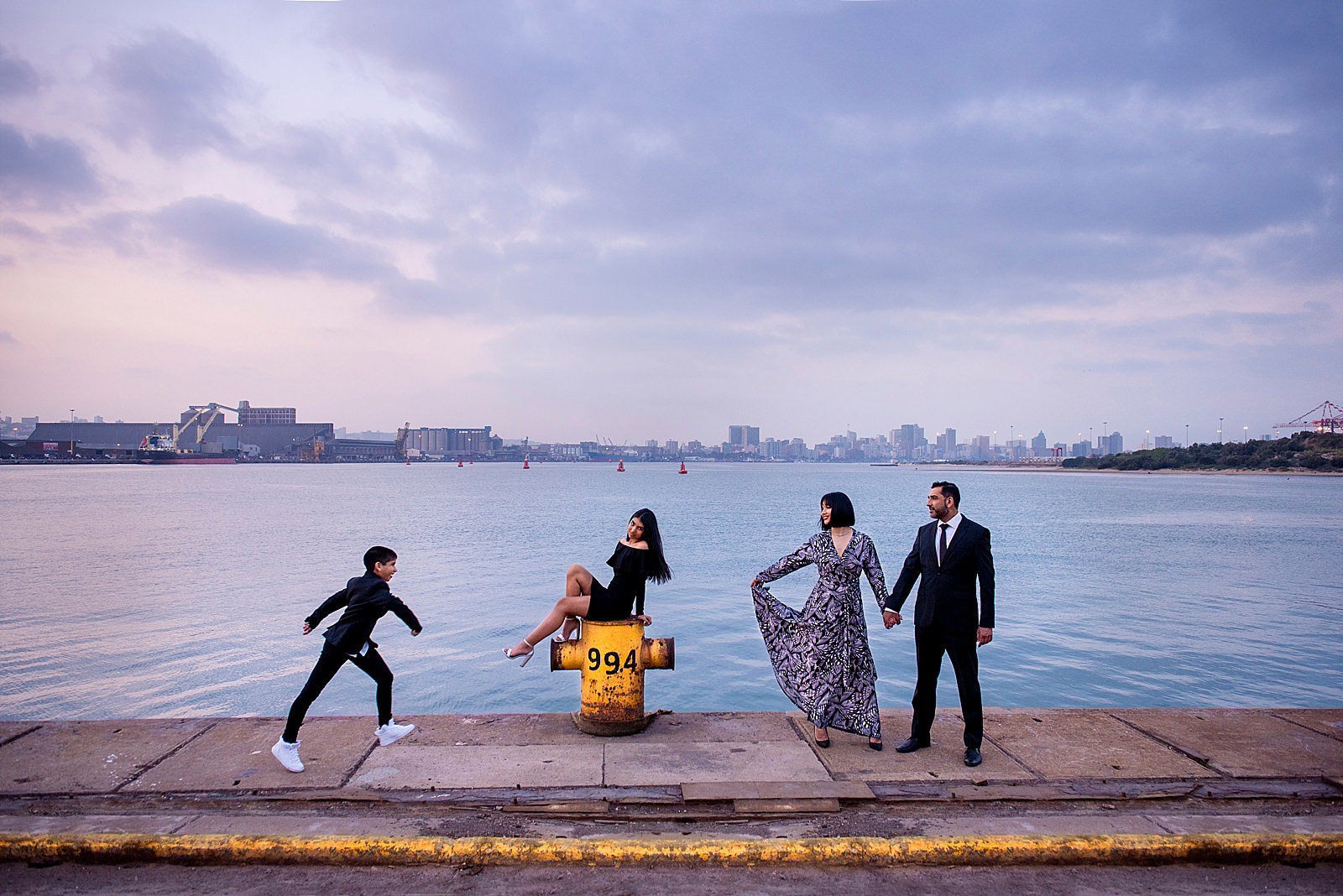 Creative, stylish family shoot shot in Durban Shipyard by Top South African photographer Jacki Bruniquel.