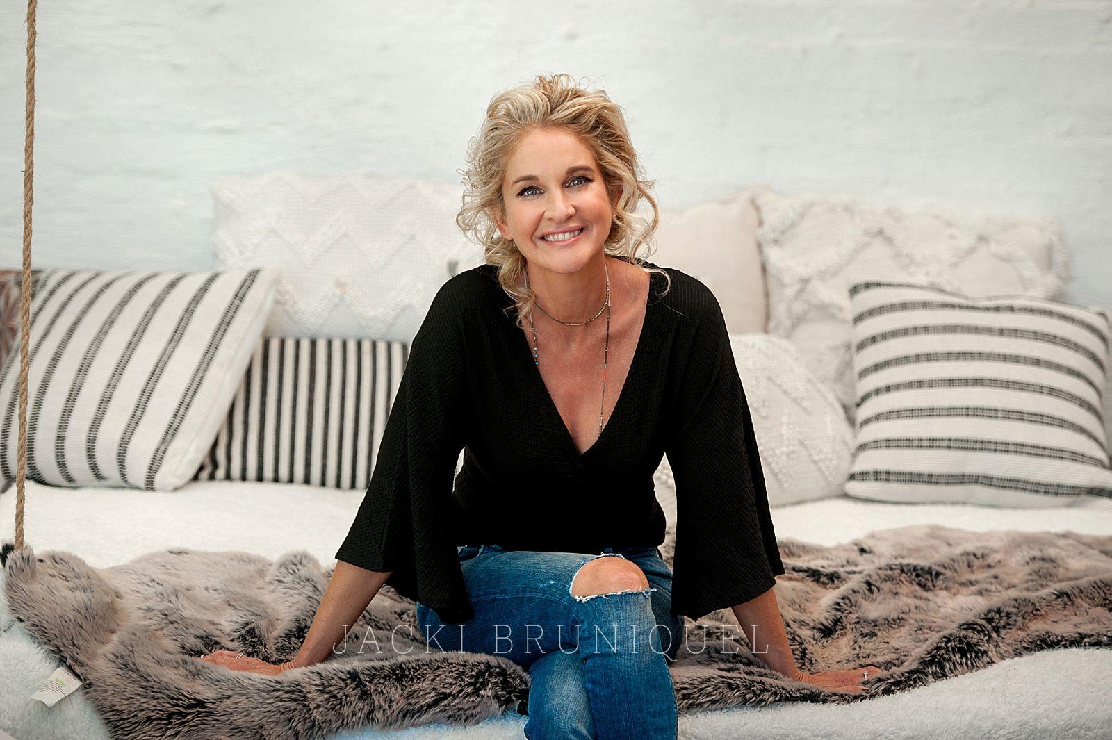Creative branding shoot  of business women Deborah Goode shot by top South African portrait photographer Jacki Bruniquel.